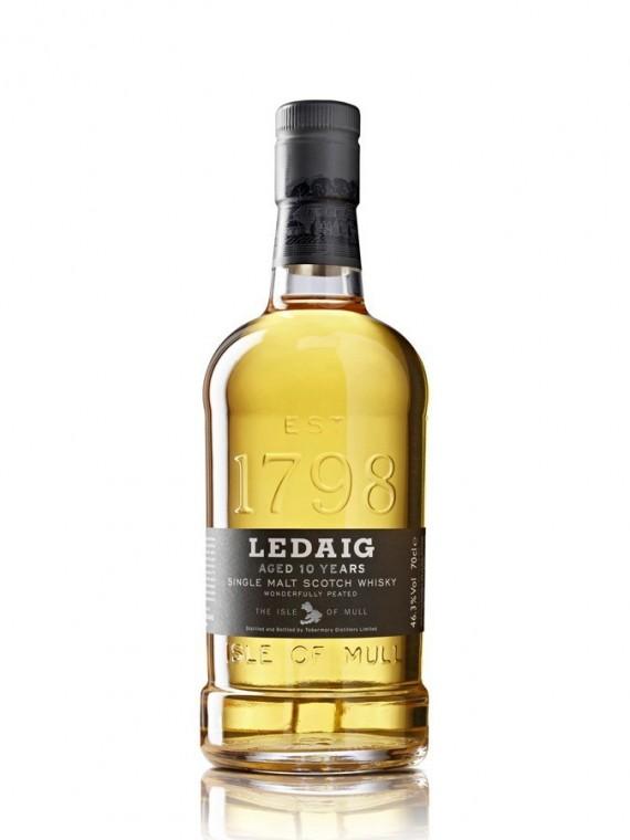 La bouteille de Ledaig 10 ans.