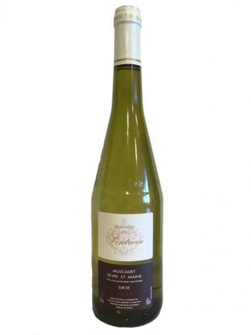 La bouteille de Muscadet Sèvre et Maine sur lie Domaine du Pontreau