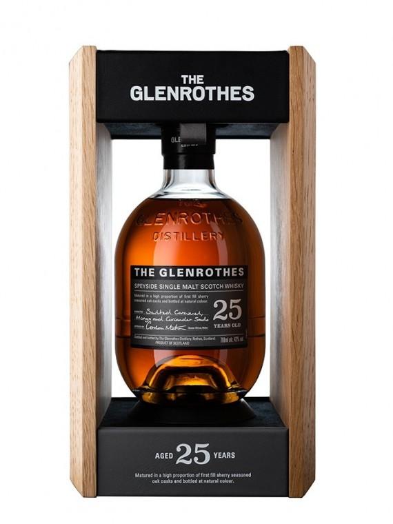 La bouteille de Glenrothes 25 ans dans son étui