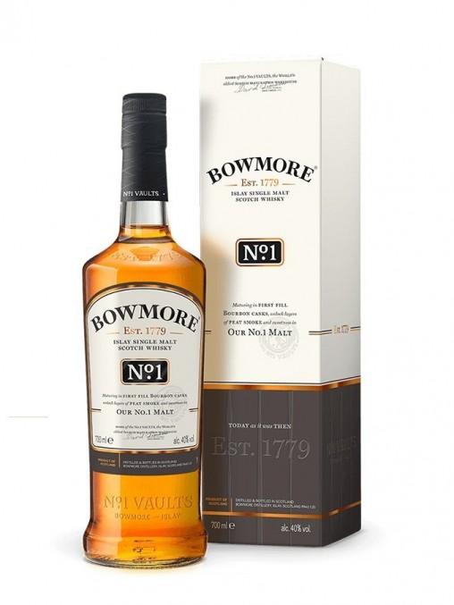 La bouteille de Bowmore n°1 et son étui